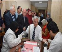 «مبارك» يتابع مبادرة ١٠٠ مليون صحة بجامعة المنوفية