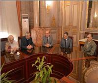 نائب رئيس جامعة عين شمس يلتقى بممثلى مشروع STESS A