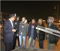إزالة التعديات على كورنيش البلاجات في الإسماعيلية بمشاركة الأهالي