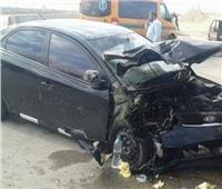 العاصفة الترابية| إصابة شخصين في حادث تصادم بالمحور