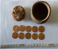 اكتشاف «خبيئة أثرية» بها عملات ذهبية من العصر البيزنطي| صور
