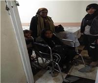 صور| قوات التدخل السريع تنقذ سيدة مصابة بكسر في القدم