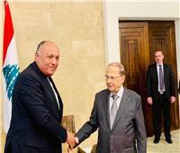 صور..وزير الخارجية يصل العاصمة بيروت للمشاركة فى القمة العربية التنموية