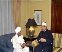 «جمعة» يلتقي رئيس المجلس الأعلى للشؤون الإسلامية بتشاد
