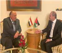 وزير الخارجية يلتقي نظيره الأردني على هامش القمة العربية الاقتصادية