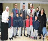 «الأنصاري» يستقبل وفد أول مدرسة بريطانية فى سوهاج