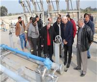 بالصور.. رئيس «مياه الغربية» يتابع المشروعات الجارية بالمحلة وسمنود