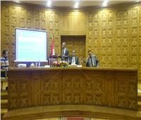ضياء رشوان يلقي كلمة بندوة تثقيفية في وزارة العدل