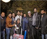 صور| الشاعري وحاتم فهمي وكريم محسن يحتفلون بعيد ميلاد مينا عطا