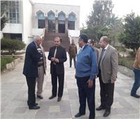 صور| جولة مفاجئة لـ«المحرصاوي» بالمدينة الجامعية