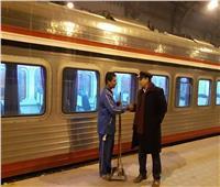 تفتيش مفاجئ للاطمئنان على نظافة القطارات وجودة الخدمة المقدمة للركاب