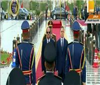 شاهد| مراسم استقبال خاصة للرئيس السيسى فور وصوله لأكاديمية الشرطة