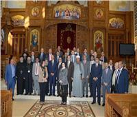 رئيس مجلس النواب ووفد برلمانى يزور كنيسة مارمرقسبالكويت
