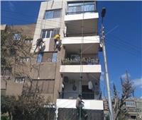 صور| المنطقة الشرقية بالقاهرة تبدأ طلاء واجهات المنازل
