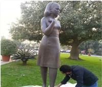 صورة| تمثال فاتن حمامة يزين دار الأوبرا المصرية
