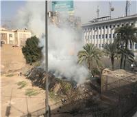 صور| ذعر في الزمالك بسبب حريق.. والحماية المدنية تدفع بسيارة إطفاء للسيطرة عليه