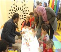 صور| إقبال كثيف على ركن الطفل في جناح الأزهر بمعرض الكتاب