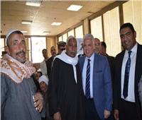 صور.. مدير أمن البحيرة يكرم أسر شهداء الشرطة