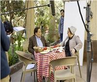 صور| عادل إمام ودلال عبدالعزيز يبدأن تصوير «فلانتينو»