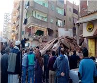 صور| انهيار منزل مكون من 5 طوابق بالمحلة.. وأنباء عن ضحايا تحت الأنقاض