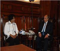 أبوستيت يبحث مع وزيرة «الثروة السمكية»الزامبية سبل التعاون بين البلدين