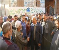 محافظ المنوفية يتفقد «كفر داود» ويوجه بإعادة فتح المسجد الكبير