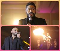 صور  تامر حسني والعسيلي يشعلان حفل إحدى شركات السياحة