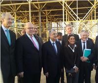 سحر نصر وشاكر ووزير الاقتصاد الألماني يزورون العاصمة الإدارية