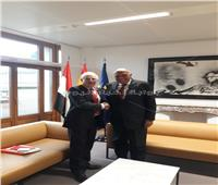 شكري يجري مباحثات مع وزير خارجية إسبانيا ببروكسل