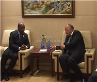 وزير الخارجية يلتقي نظيرهالسيراليوني بمجلسالاتحاد الأفريقي