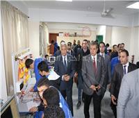 «عباس» و«سعفان» يتفقدان مدرسة «العربي» للتكنولوجيا التطبيقية