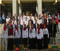 رئيس جامعة عين شمس يفتتح «المعمل المركزي» بكلية العلوم