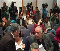 صور  نقيب الممثلين يرفض الجلوس بالمقاعد الملكية بمؤتمر إعلان الاجندة الثقافية