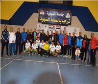 مباريات كرة قدم وكرة يد في اليوم الرياضي لجامعة المنوفية