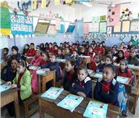 صور| مدير إدارة القاهرة الجديدة يقوم بجولة على المدارس