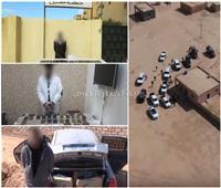 فيديو| بعد تبادل إطلاق النار.. ضبط تشكيل عصابي بحوزتهم 171 طربة حشيش