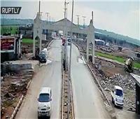 فيديو|لحظة انفجار سيارة مفخخة على الحدود السورية التركية