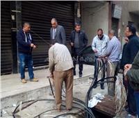 صور| حي شبرا يستعد لاستقبال الأمطار