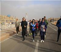 وزيرة السياحة تشارك في ماراثون الأهرامات