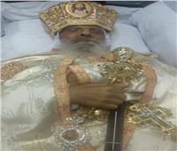 شاهد| المرقد الأخير لأسقف البحر الأحمر قبل دفنه