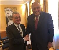 وزير الخارجية سامح شكري يلتقي نظيره الأرميني