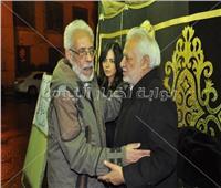 صور| نجوم الفن في عزاء نادية فهمي بمسجد عمر مكرم