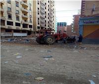 البيئة: رفع المخلفات الصلبة من شوارع الزقازيق