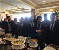 أشرف صبحي يتفقد فندق إقامة فرق بطولة البحر المتوسط والمدينة الشبابية ببورسعيد