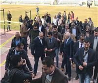 وزير الرياضة يقوم بجولة تفقدية بستاد المصري البورسعيدي