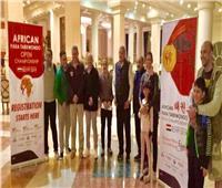 وصول الوفود المشاركة في بطولة «أفريقيا للتايكوندو» بمطار الغردقة