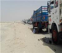 توقف حركة المرور بالطريق الصحراوي الشرقي بسبب حادث تصادم