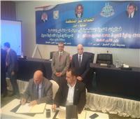 «سعفان» و«فودة» يشهدان توقيع 32 اتفاقية بصرف علاوة10% لـ10 آلاف عامل
