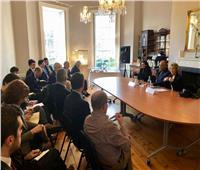 وزير الخارجية يعقد جلسة حوارية مع معهد الشئون الدولية والأوروبية بأيرلندا