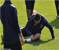 إصابة رونالدو في تدريبات اليوفي قبل مواجهة أتليتكو مدريد